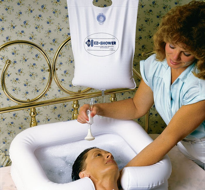Portable-shampoo bowl for bedridden
