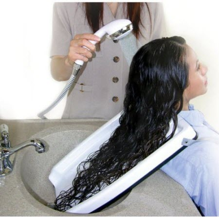 shampoo hair washing tray