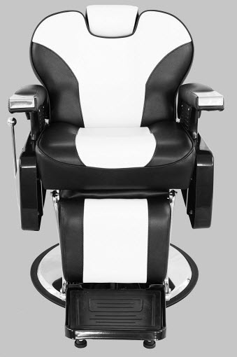 Exacme Hydraulic Recline Barber Chair Salon Beauty Spa Shampoo Chair Black White Creme 8702bw