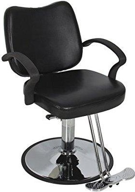 Best Choice Products Hydraulic Barber Chair Styling Salon Work Station Chair Black Modern Design New: