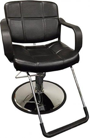 "20"" Wide Hydraulic Barber Chair Styling Salon Beauty Equipment - DS-5001W-NEWBlack:"