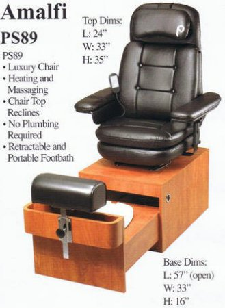 PS89 Almafi Pedicure Chair