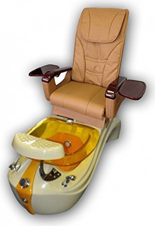 Tan and Gold Pedicure Massage Chair