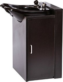 ABS Plastic Backwash Shampoo Bowl with Floor Cabinet