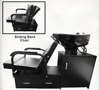 Tilting CERAMIC Shampoo Bowl Floor Cabinet With Chair Unit